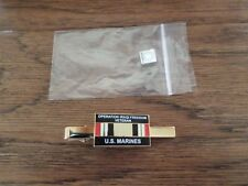 U.S MILITARY MARINE CORPS OIF IRAQ VETERAN TIE BAR OR TIE TAC CLIP ON TYPE USMC