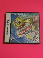 🔥 SpongeBob's SURF & SKATE ROADTRIP - Nintendo DS 💯 COMPLETE WORKING GAME FUN