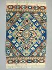 Vintage Turkish Kilim 154x102 cm Wool Kelim Rug Red Blue Pink Beige  Medium