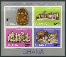Ghana - Archéologique Funde Bloc 41 neuf 1970 Mi.N° 417-422 B
