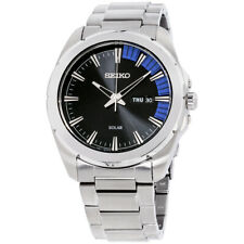 Seiko Recraft Solar Movement Black Dial Men's Watch SNE415 **Open Box**