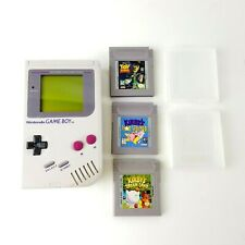 Nintendo GameBoy DMG-01 Handheld Console System And 3 Games Game Boy Gray