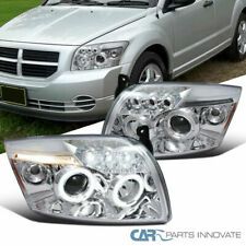 LED DRL Halo For Dodge 07-12 Caliber Clear Lens Projector Headlights Signal Pair