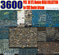 3600+ pcs 3D Model STL Collection Picture Decor Facade for CNC Artcam 3d printer