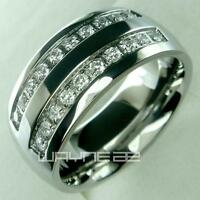 HIS  MEN'S  STAINLESS STEEL WEDDING ENGAGEMENT RING BAND R178a sz10-15