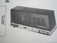 SHERWOOD S-360 AMP AMPLIFIER PHOTOFACT