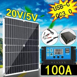 Kit de panneaux solaire 200W chargeur de batterie 12V avec contrôleur 100a 20.8V