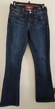 "Lucky Brand Womens SZ 2/26 Regular ""The Art of Blue Jeans"" Sofia Boot"" Excellent"