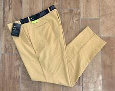 New Authentic Men's Nike Flex Slim Golf Pants Club Gold 891887 Sz 40 x 32 $100
