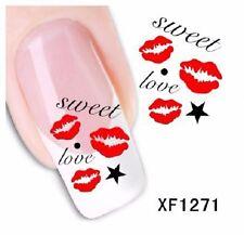 Carte de Tatouage temporaire pour ongles (nail art faux ongles) XF1271