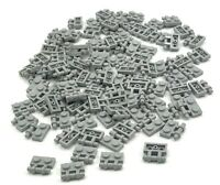 LEGO LOT OF 100 NEW LIGHT BLUISH GREY 1 X 2 PLATES WITH HANDLES PIECES