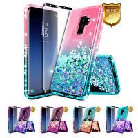 Samsung Galaxy S9 / S9 Plus Case | Liquid Glitter Bling Cover + Screen Protector