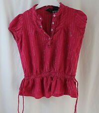 Baby Phat Girls, 6X, Cerise Pink/Silver Accent Stripes Top