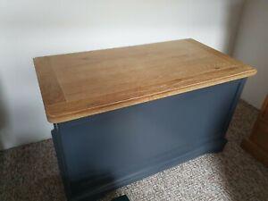 Grey Wooden Bedding Box Toy Box Chest