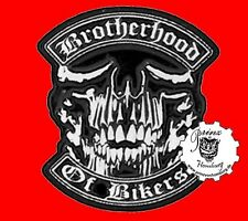 BROTHERHOOD OF BIKER  * PIN * SKULL Anstecker NEU