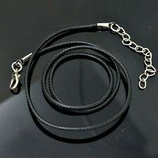 10PCS Best Black Real Leather Cord Choker  Adjustable Braided Necklace