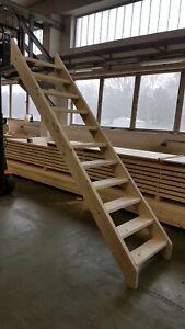 Bautreppe Treppe Holz stabil massiv KVH Fichte Tanne