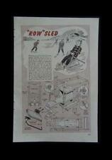 Rowing Ice Sled Boat 1947 How-To build PLANS Child size