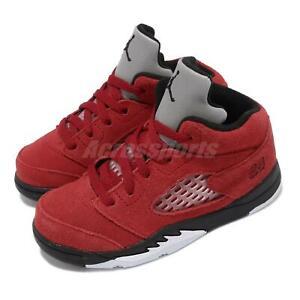 Nike Jordan 5 Retro TD AJ5 Raging Bull Red Toddler Infant Basketball 440890-600
