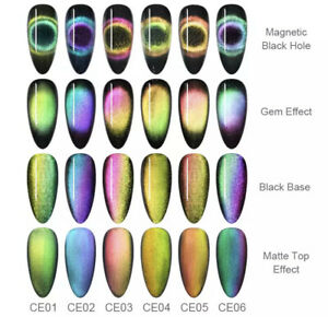 BORN PRETTY 9D Chameleon Cat Eye Nail Gel Magnetic UV Gel Nail Polish