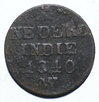 1840 Netherlands East Indies One 1 Cent/Duit - Willem I - Lot 330