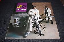 "Mr. Lee RAPPER SIGNED AUTOGRAPH on ""get busy"" Vinyl Record LP InPerson RARE"