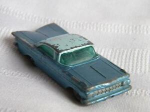 Vintage Lesney Matchbox Series Toy Car~1959 Chevrolet Impala # 57~Grey Tire~Blue