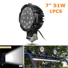 "7"" 51W Round Off Road Led Spot Work Light For Jeep Truck Bumper Driving Charming"