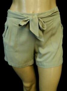 Maurices beige plus size back elastic waist zipper pocket tie waist shorts 3,3X