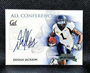 2008 Press Pass Legends DeSean Jackson Pac 10 Blue Autograph Auto #d 17/25