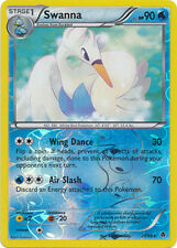 Swanna Rare Reverse Holo Pokemon Card BW2 Emerging Powers 27/98