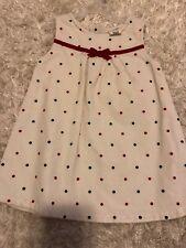 healthtex dress Infants 24 Months Christmas Polka Dot Velvet Feel