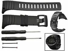 Original Luxury Rubber Replacement Watch Band Strap For SUUNTO CORE All Black