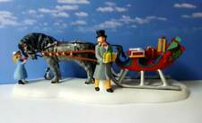 Dept 56 New England Village Loading The Cutter For Christmas! Sleigh Bells