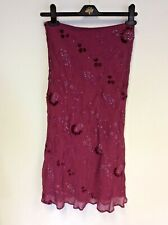 BNWT WHISTLES RASPBERRY EMBROIDERED & BEADED A LINE SKRT SIZE 8/10