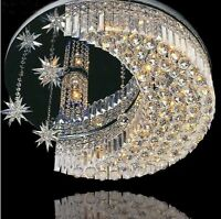 K9 Modern Crystal Round Led Moon Star Light Ceiling Lamp Chandelier Lighting