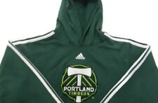 Portland Timbers Adidas Youth Large Hoodie Sweatshirt Green MLS Pullover