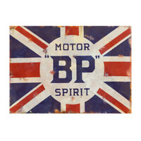 BP Motorsport Metal Garage Advertising Sign Classic Workshop Vintage Shed Plaque