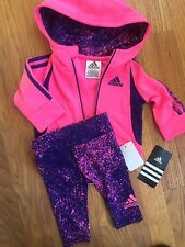 Adidas Baby Girl 3 Months Outfit Leggings And Zip Up Jacket BWT Free Shipping