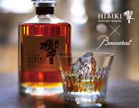 SUNTORY HIBIKI Baccarat Whisky Crystal Tumbler 24 Face Cut Japan Limited