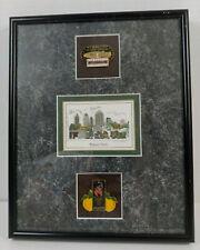 1996 Atlanta Summer Olympic Games Pins Set & Mid Town 3D Art Matted Framed 8X10