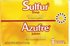 LARGE 125g - 10% SULFUR SOAP ACNE BLACKHEAD ECZEMA PSORIASIS DERMATITIS SCABIES