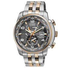 Citizen AT9016-56H Men's World Time A-T Eco-Drive Radio Controlled Steel Watch