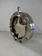 "(NEW) DEFINOX 6"" STAINLESS STEEL BUTTERFLY VALVE"