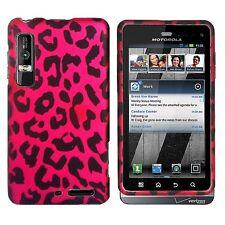 Hot Pink Leopard Hard Case Phone Cover Motorola Droid 3