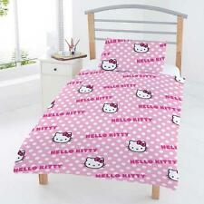Original Sanrio Hello Kitty Hearts Bed Cover 135x200cm Bed Set New Shocking Pink