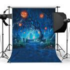 3x5ft Halloween Vinyl Backdrop Background Photography Pumpkin Lantern Photo Prop