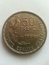 50 FRANCS 1954 BROZE ALU   rare