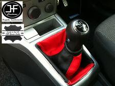 NERO Rosso adattabile a OPEL Vauxhall Astra H Mk5 Mkv STICK GEAR Ghetta in pelle
