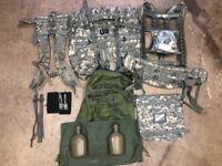 FREE BONUSES!!! 18PCS US Military MOLLE II Rifleman FRAME RUCK SHOULDER STRAPS